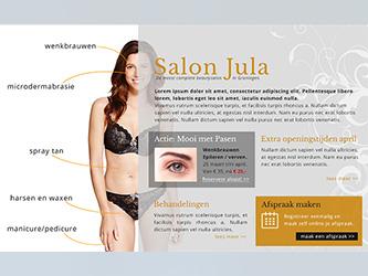 Website schoonheidssalon Jula, Groningen